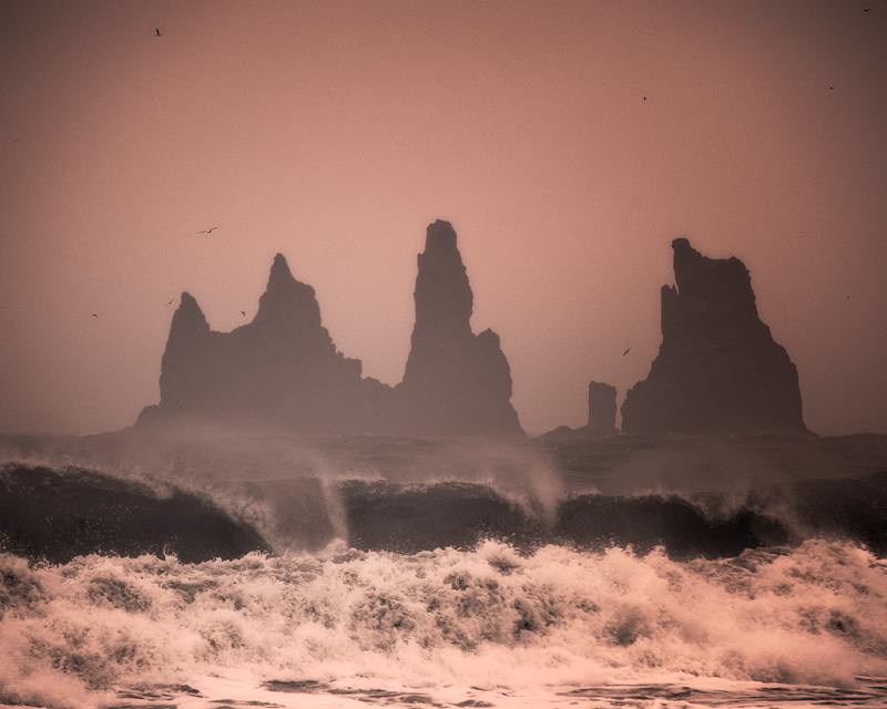 Violent Waves on the Shore of Iceland
