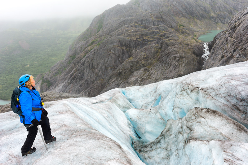 Trekking adventure on Lemon Glacier, Juneau Icefield, Juneau, Alaska, USA