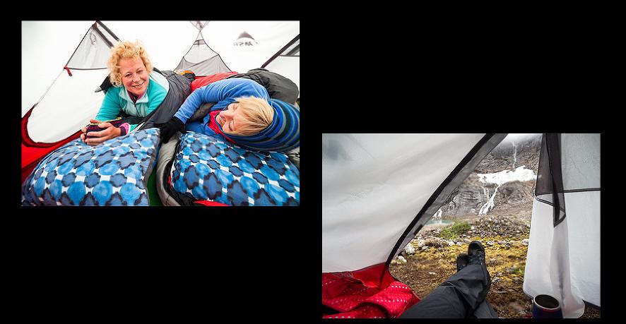 camping tent glacier alaska women