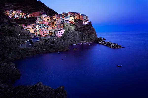 Cinque Terre blue hour photography