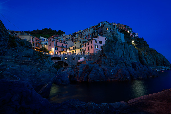 Manarola blue hour, Cinque Terre photography